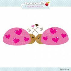 Lovey Ladybugs - cute little #valentine ladybugs #clipart #graphics