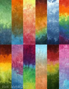 Gradient hand dyed fabric / Vicki Welsh
