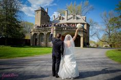 Farewell photo for the bride and groom on their wedding day | Lynda Berry Photography