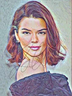 Kendall Jenner Sketch Drawing PRINT Wall Art Illustration Drawing Prints, Cute Couple Wallpaper, Colorful Drawings, Art Sketchbook, Prismacolor Drawing, Celebrity Drawings, Sketch Painting, Art, Celebrity Art
