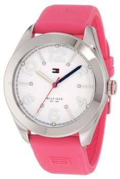 Tommy Hilfiger Women's 1781256 Sport Pink Silicon Stainless Steel Watch