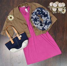 Summer outfit in purple color for business lunch