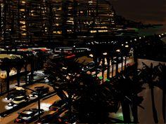 View from hotel window, Miami. Craig Longmuir, iPad drawing