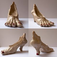 High-heeled feet shoes