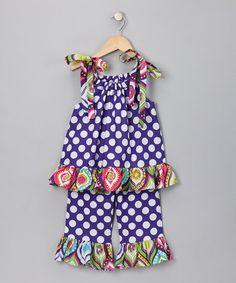 Purple Polka Dot Tank & Pants  -fabric love