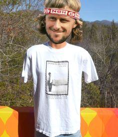 90s vintage rock t-shirt JACKSON BROWNE i'm alive by skippyhaha