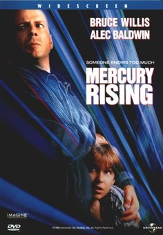 Mercury Rising is a 1998 American action thriller film starring Bruce Willis and Alec Baldwin. Directed by Harold Becker, the movie is based on Ryne Douglas Pearson's 1996 novel originally published as Simple Simon. Willis plays Art Jeffries, an undercover FBI agent who protects a nine year old boy with autism who is targeted by government assassins after he cracks a top secret government code.  Part of this movie is filmed in South Dakota.