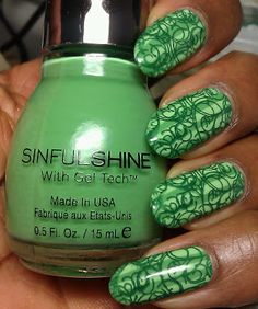 From Makeupalley....Laquerlove...SinfulShine Limelight  Wish I could do this!