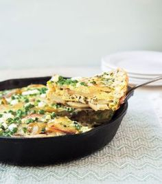 Pea and Goat Cheese Tortilla