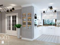 Dom jednorodzinny na Psim Polu, Wrocław - Średnia otwarta kuchnia w kształcie litery u, styl nowojorski - zdjęcie od ROOM STUDIO