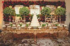 Decoração da mesa de doces - Casamento moderno