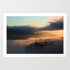 Foggy Mornings in Kamloops Art Print by Wild Roots Photography & Artwork - $25.00