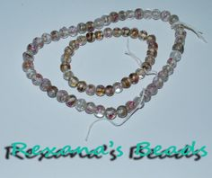 Set of 2 Strands of Confetti Glass White and Pink Beads. Starting at $8 on Tophatter.com!