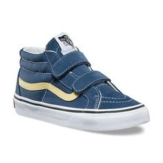 Reissue V Sneaker - Vintage Indigo/Pineapple SliceBoys Vans Kids, Vans Sneakers, Slip, Indigo, Vintage, Shoes, Style, Fashion, Black People