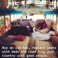 Travelling with friends  school bus  #best friends  #beds