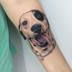 Dog Tattoo by Melina Casteletto
