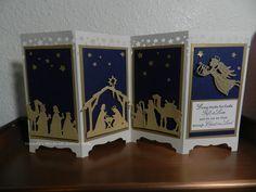 Christmas Nativity card  Screen divider.