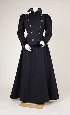 French wool and velvet suit 1897-99   Threading Through Time
