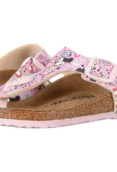 4185ffbaa3b Birkenstock Kids Gizeh (Little Kid Big Kid) (Lovely Minnie Rose Birko-Flor)  Girls Shoes
