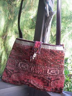 ROSEY MESSENGER Carpetbag -- Vintage, Boho, Laptop --RESERVED for Joanne