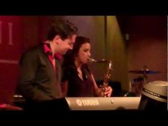 "Two of my favorite jazz artists Jonathan Fritzen and Jessy J perform ""Fly Away"" live at Spaghettini's"