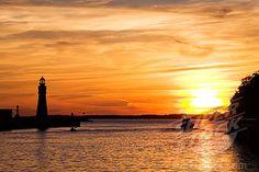 Buffalo, NY sunset pictures | SuperStock - Buffalo Port at sunset; Buffalo, New York State, USA