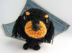 Amigurumi Cocker, crochet American Cocker Spaniel, Cocker plush toy. Crochet dog. Stuffed Cocker Spaniel..Stocking stuffer.