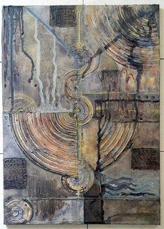 SOLD! :D - Acrylbild Leinwand 70 x 50 x 2 Abstrakt Strukturen von BeGehrLich