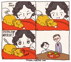 Kidlock. Hungry, hungry Mycroft! I'm laughing at this way harder than i should be.... // Original.... http://ottery.tumblr.com/post/45670863754/hungry-hungry-mycroft-its-his-favourite-game