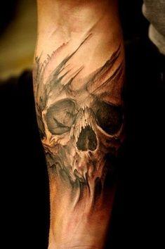 Ghost Skull Tattoo