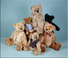 Bearing All Teddy bears by #paulacarter #teddy #artistbears #teddybears www.allbearbypaula.com