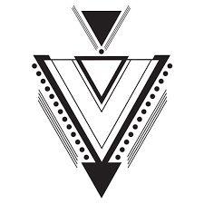 """Résultat de recherche d'images pour """"tatouage triangle geometrique"""""""