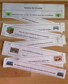 #Grundschule #Wortarten und #Satzglieder bestimmen mit Minecraft #Deutsch