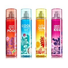 Bath and Body Works Summer Collections ❤ liked on Polyvore featuring perfume