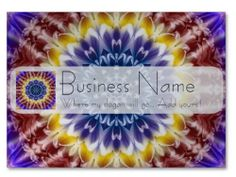 Rainbow Chrysanthemum Chubby Business Cards | Independent Art Gifts By Blooming Vine Design
