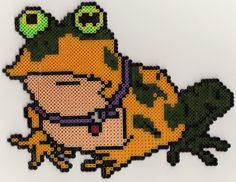 Hypnotoad Futurama perler beads by rphb on deviantART