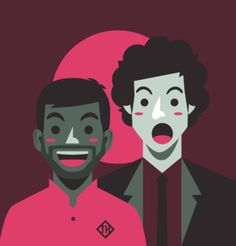 Tom Haverford and Jean-Ralphio - Parks and Rec Parcs And Rec, Jean Ralphio, Tom Haverford, Beautiful Tropical Fish, Parks Department, Tv Episodes, Parks And Recreation, Spirit Animal, Pop Culture