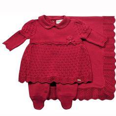 Saída de maternidade vestidinho vermelha Noruega