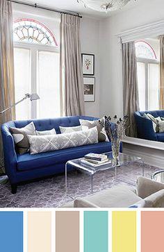 Definir uma paleta de cores para decorar. Lounge, Couch, Furniture, Home Decor, Homemade Home Decor, Settee, Lounge Music, Diy Sofa, Lounges