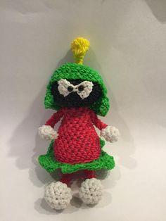 Looney Tunes Marvin the Martian Rubber Band Figure, Rainbow Loom Loomigurumi, Rainbow Loom Warner Brothers