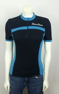 RACE FACE S SHIRT TOP cycling jersey cycle embroidered logo 1/4 zip. 348