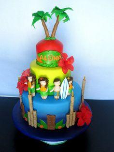 images of luau birthday cakes | Luau Hawaiian Theme Birthday Cake