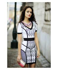 Black Ivory Dion Short Sleeve Dress H801