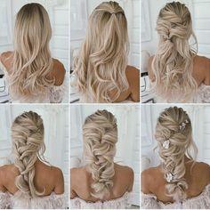 Wedding Hairstyles Tutorial, Wedding Hairstyles For Long Hair, Box Braids Hairstyles, Bride Hairstyles, Hairstyle Tutorials, Bridal Hair Tutorial, Bridesmaids Hairstyles, Bridesmaid Hair Tutorial, Wedding Hair Tutorials