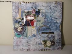 Elen ArtCrafts: Μια ιδιαίτερη μέρα.../It's a special day... Special Day, Mixed Media, Layout, Memories, Frame, How To Make, Home Decor, Memoirs, Picture Frame