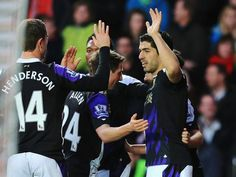 Southampton 0 Liverpool 3 : Luis Suarez marks his 100th. Premier league appearance as Liverpool soar into title reckoning with a win that means they leapfrog over Manchester City and Arsenal to go second in the league.