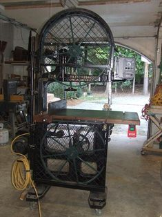 1930's Bandsaw, Fay & Egan, which I restored. Ed Trevillian