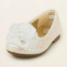 baby girl - shoes - ballet flats - glitter poof ballet flat | Children's Clothing | Kids Clothes | The Children's Place