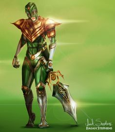 Green Ranger, Power Rangers artwork by Isaiah Stephens.