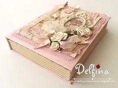 """Delfina scrapbook y más...: La mesa está lista!! LIBRO FALSO """"Tutorial"""""""